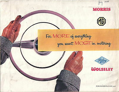 Nuffield Morris Minor Wolseley MG MGA Riley 1955-56 Original Sales Brochure 5558