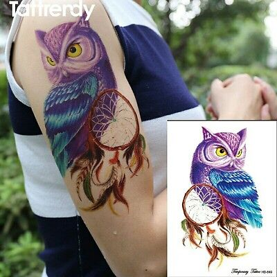 Temporary Wizard Magic Owl Dreamcatcher Tattoo Stickers Body Art Tatoo Magic UK
