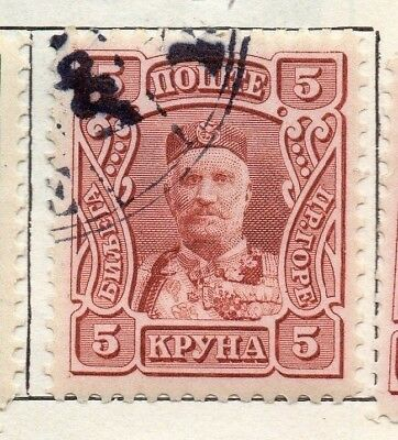 Montenegro 1905 Early Issue Fine Used 5kr. 147323