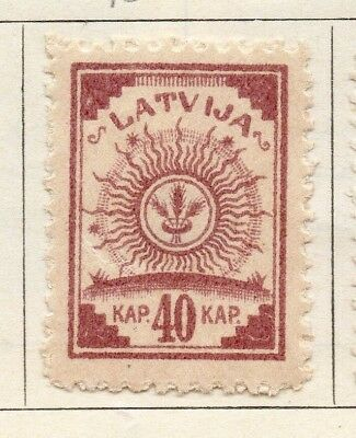 Latvia 1920 Early Issue Fine Mint Hinged 10k. 147401