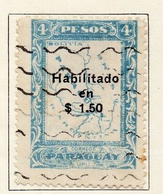 Paraguay 1926-27 Early Issue Fine Used $1.50 Surcharged 147516