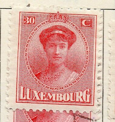 Luxembourg 1921 Early Issue Fine Mint Hinged 30c. 147016