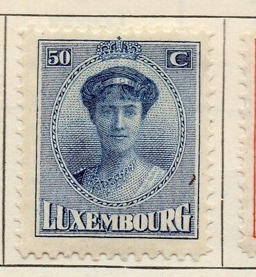 Luxembourg 1921 Early Issue Fine Mint Hinged 50c. 147018