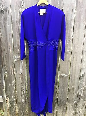 Daymor Couture Womens Formal Long Wrap Dress Royal Blue 14 Mother Of Bride Prom