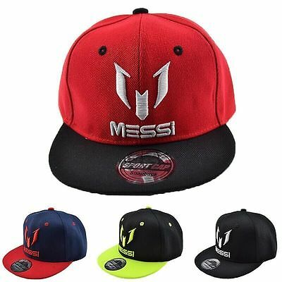 KIDS SIZE New Hot Leo Lionel Messi Barcelona Argentina Star Cap Snapback Hat