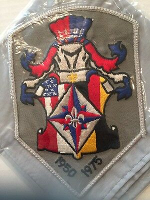 BSA MILITARY USA 25 Years USA/Germany Scouting Mint Patch On Neckerchief