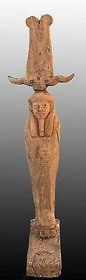 EGYPTIAN WOODEN Large Ptah-Sokar-Osiris figure - 71 cm.