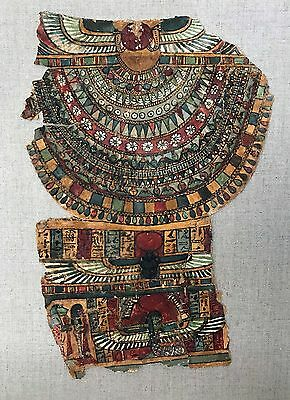 EGYPTIAN Egyptian cartonnage fragment with winged Isis.