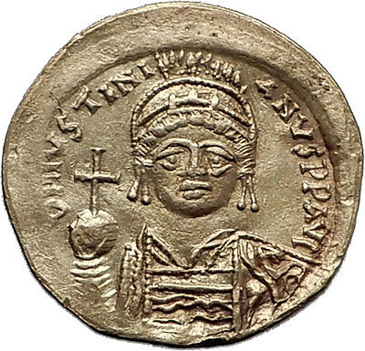 JUSTINIAN I the GREAT 542AD Rome Authentic Ancient GOLD Byzantine Coin i60340