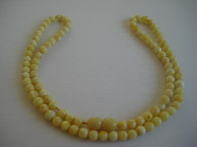 Bernsteinkette Baltic Amber Necklace White-Gelb-Yellow Beads
