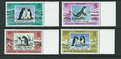 BRITISH ANTARCTIC TERRITORY BAT 1979 PENGUINS (Scott 72-75 complete) VF MNH