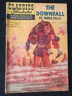 Classics Illustrated #126 THE DOWNFALL Emile Zola  G