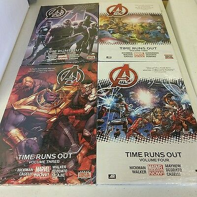 Avengers Time Runs Out HC Lot MARVEL Hickman GN Thanos Complete Vol 1 2 3 4