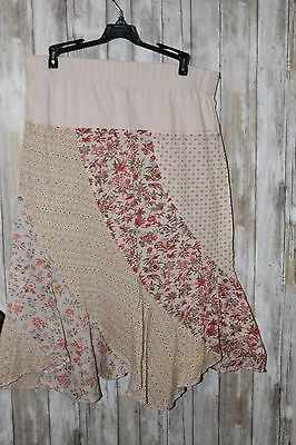 Motherhood Maternity Skirt Patchwork Nothing matches Size Large