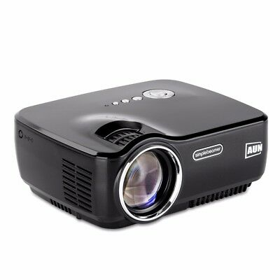AUN AM01 LED Projector 1200 Lumens 1080P Mini Projector Support AV Home Cinema