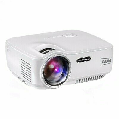 AUN AM01S Projector 1400 Lumens LED Android 4.4 WIFI Bluetooth Support AC3 MINI