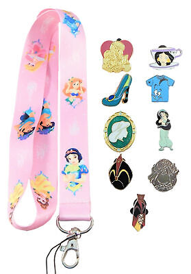 Jasmine from Aladdin Starter Lanyard Set w/ 5 Disney Park Trading Pins ~ NEW