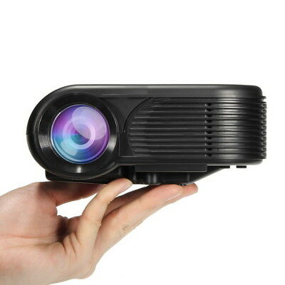 Portable 480 Pixels 80 LMS LCD Projector Home Cinema with HDMI USB AV VGA SD Int