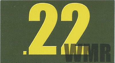"Vinyl Ammo Can Magnet label "".22 WMR"" Bold"