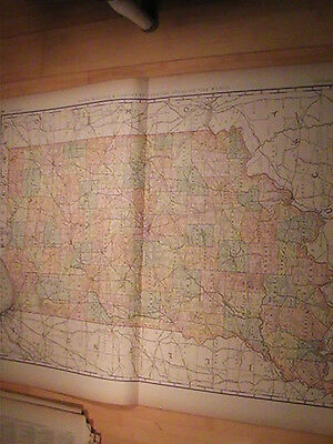 1892 Indiana Map Rand Mcnally Large 22 X 29 Original
