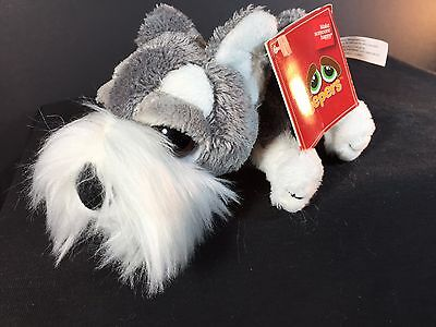 "SCHULTZ by RUSS Lil Peepers Plush - Schnauzer Dog Stuffed Animal - 6"" NWT"