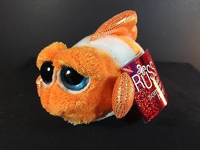 "CORAL by RUSS Lil Peepers Plush - Nimo Clown Fish Stuffed Animal - 6"" NWT"