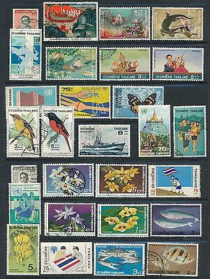Thailand (1977-1980) 28 ISSUES; MH & USED; AS SHOWN; CV $48