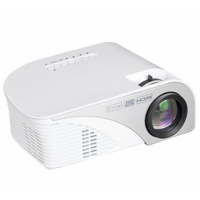 805B LCD Mini Support 1080P 1200 Lumens LED Portable Projector Home Cinema White