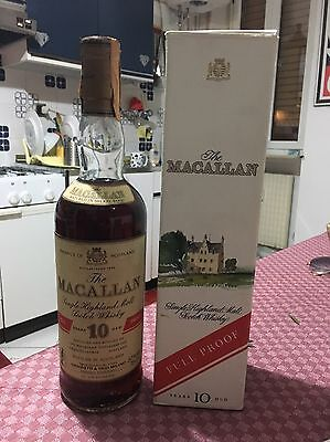 Single Malt Scotch Whisky MACALLAN 10 years old  100% Proof   75 Cl