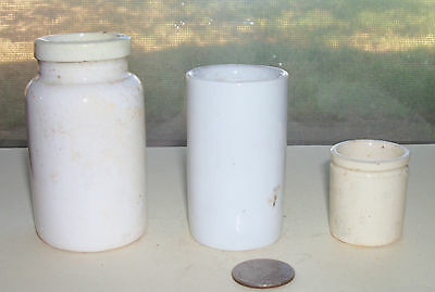 Three Different Vintage Pottery Jars- Pre 1900