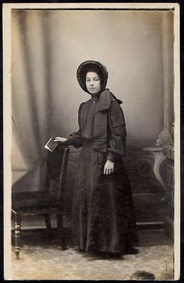 c1901 Salvation Army RP PPC - Victorian - Young Woman in Uniform - Real Photo