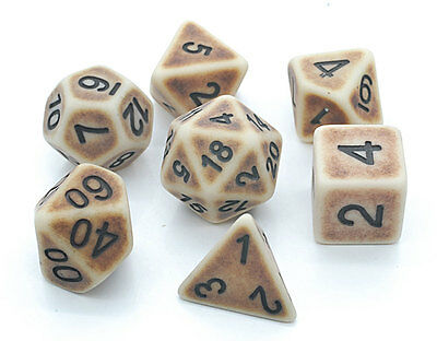 Ancient Poly Dice Set