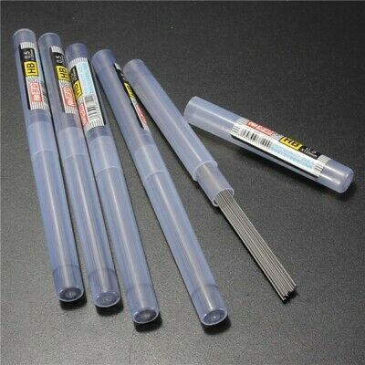 5 Tubes HB/2B/2H Black Lead Refills Tube 0.5mm With Case For Mechanical Pencil