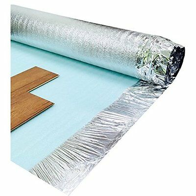 Underlay For Laminate Wood Floor Silver 3mm Noise Reduction, Non-dusting Home