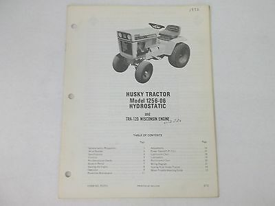 bolens model 1256 -06 tractor owners manual with tra-12d wisconsin engine