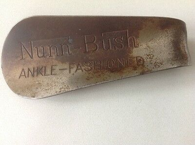"""Vintage Nunn Bush Ankle Fashioned Advertising Shoe Horn 4 1/4"""" GVC COLLECTABLE +"""