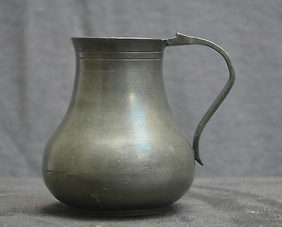 Nice quality Antique pewter jug Dutch with pewter rose mark