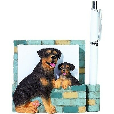 ROTTWEILER MAGNETIC NOTE PAD w/PEN NEW SITS ON DESKTOP OR HANG W/MAGNET