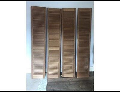 Vintage French Wooden Window Shutters Shabby Chic