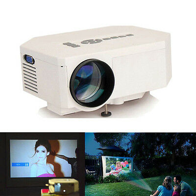 UC30 Led Portable Projector Support HDMI VGA AV USB for Home TV