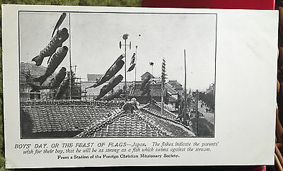 Feast Of the Flags JAPAN Post Card PRE 08, FOREIGN CHRISTIAN MISSIONARY SOCIETY