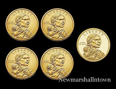 2017 P+D+S Native American Sacagawea Set ~ Proof & PD Pos A+B from Mint Rolls