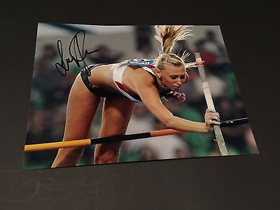 LISA RYZIH signed Autogramm Photo 20x27 STABHOCHSPRUNG