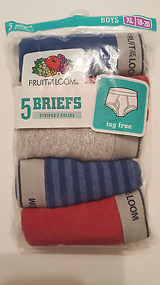 New Boys Briefs 5 Pack Fruit of the Loom Size XL 18-20