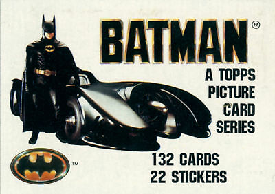 Topps 1989 Batman  Movie Card Set with Stickers