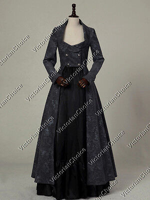 Gothic Victorian Edwardian Steampunk Punk 2PC Coat Dress Theater Clothing C058