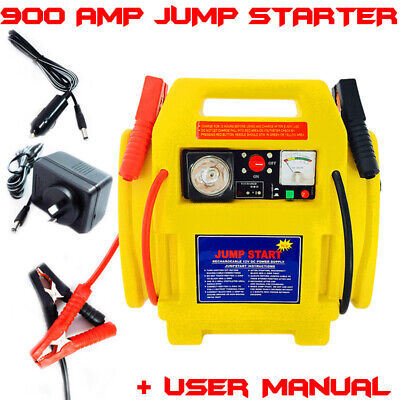 Portable Rechargeable Battery Car Jump Pack Starter 900amp Air Compressor Pressu
