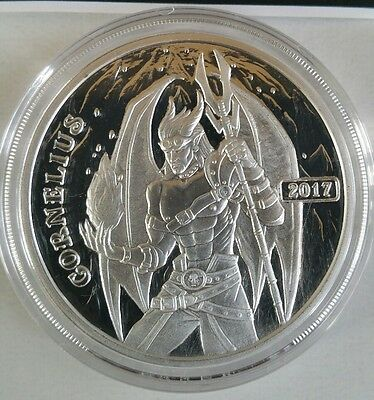 Cornelius the Fighter 1 oz .999 Silver Proof Round Angels & Demons Steampunk NEW