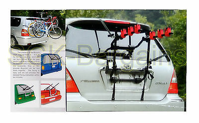 3 Bicycle Bike Car Cycle Carrier Rack Saloon Hatchback Estate Universal Fitting