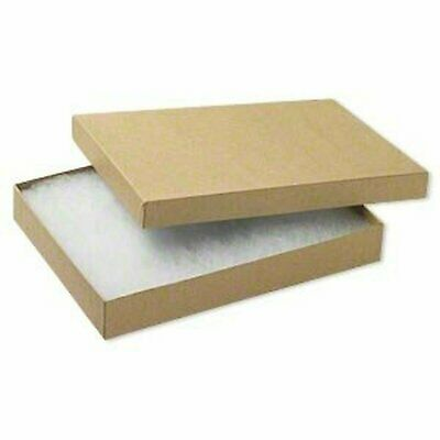 10 Pack 65 Size Large Kraft Cotton Filled Jewelry Boxes